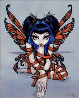 Red Ribbon Fairy Art Tile